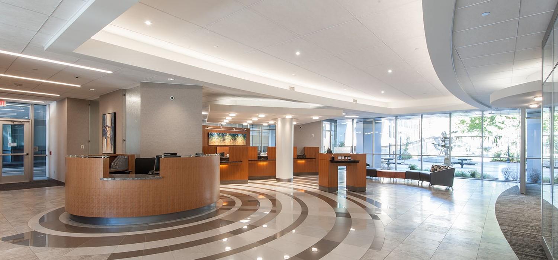 Fidelity bank headquarters lobby remodel wichita ks for Bank designs architecture