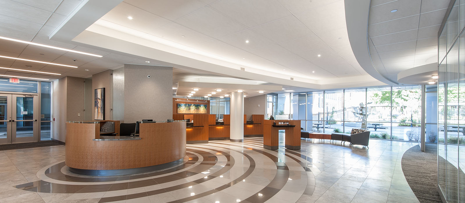 Fidelity Bank Headquarters Lobby Remodel in Wichita Kansas by WDM Bank Architects & Interior Designers